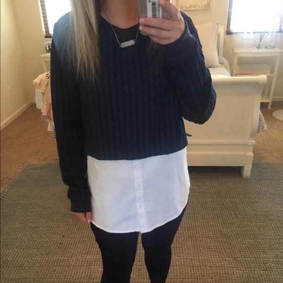 Anthropologie Tops Sweater Blouse Combo Top Poshmark